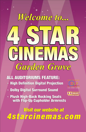 4 Star Cinema Garden Grove, 714-934-6377