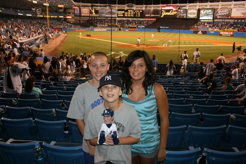 Cody, Mackenzie and Cousin Nate at Yankee Stadium July, 2009